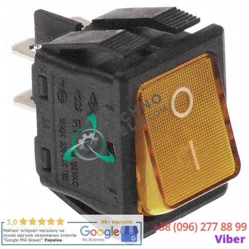 Кнопка универсальная вкл-выкл 30x22мм 250В 16А оранжевая
