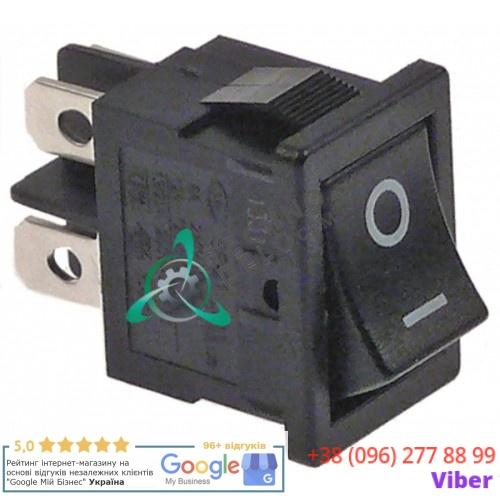 Выключатель 0-I (19x13мм 2NO 250В) 0998 для Faema, Fagor, Mastro, Modular, Polydor, Dynamic, Roller-Grill и др.
