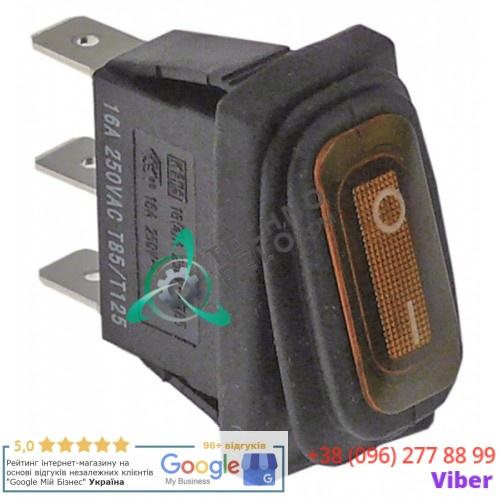 Выключатель балансирный оранжевый монтаж 30x11мм с сильфоном (1NO 230В 16А)