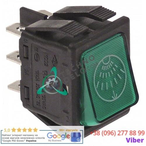 Выключатель (кнопка зелёная) 2CO 250В ополаскивание 130408 для Comenda B41/B42