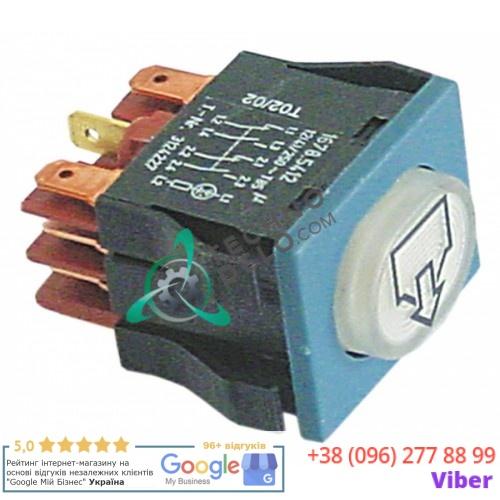 Кнопка слива (30x22мм 2NO/2NC/лампа) 3124227 для Winterhalter GS501, GS502, GS515, MTF, MTR