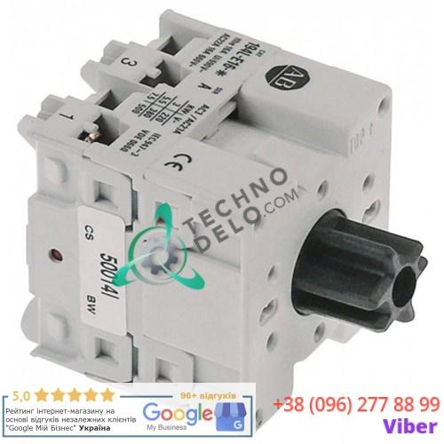 Выключатель Breter 194L-E16 690В 16А 6827 для посудомоечной машины ATA AL40, AL40PS, AL45, AL45PS