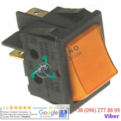 Выключатель оранжевый 250V 1NO/лампа 12V 30x22мм IP40 12020974 R723027 для Fagor HCG-10-11 и др.