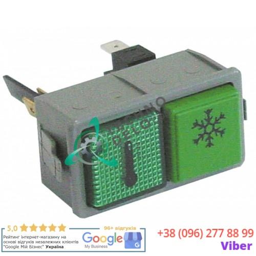 Кнопка двойная температура/возобновление 1NO 250В 0015899/B для Dihr, Kromo и др.