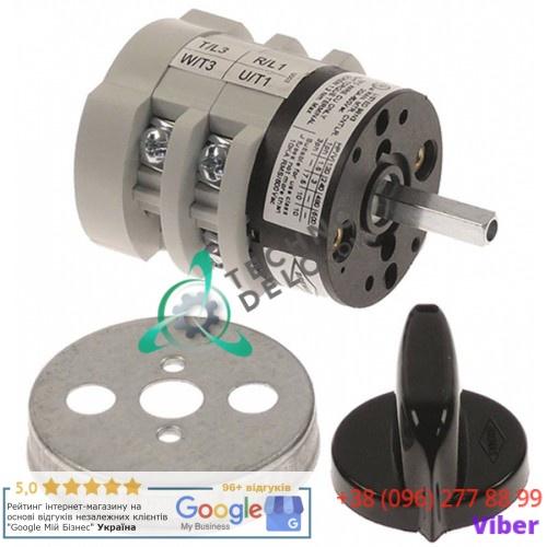 Выключатель Bremas CA0170003 0-1 400V 20A ось 5x5мм 18201 для Astoria, La-Marzocco, Mazzer, Wega и др.