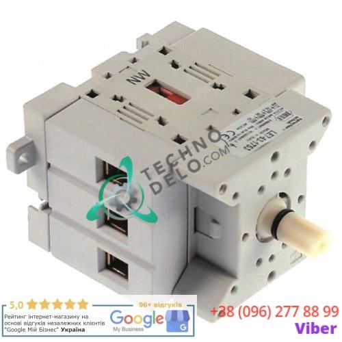 Выключатель Breter 3LD2504-0TK53 0-1 600В 63А ось 8x9мм 74500490 для печи Moretti T75E, T97E
