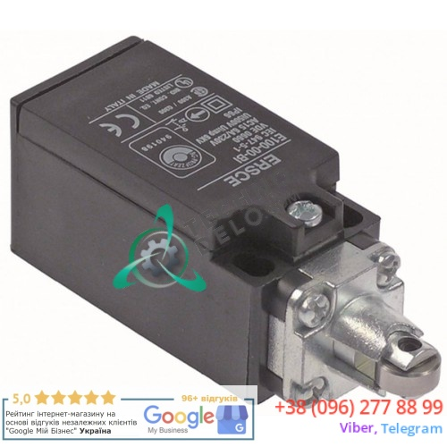 Выключатель концевой 1NO/1NC 230В 6А 89x31x33мм IP66 для тестомеса Alimacchine NT05, NT10, NT20 и др.