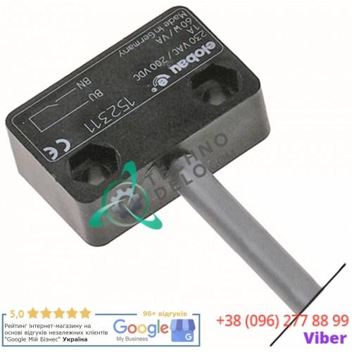 Выключатель электромагнитный 1NC 230В 3А 60Вт провод L-2000мм 049969 0E5854 для Electrolux, Zanussi и др.