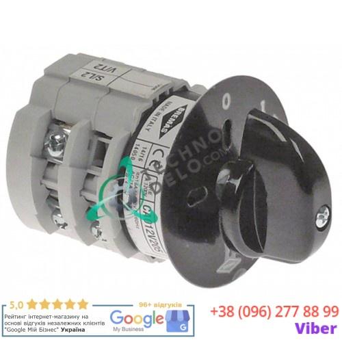 Выключатель Bremas CA012V205 0-1 400В 12А 001.004.013 для кофемолки Fiorenzato и др.