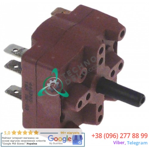 Выключатель Gottak 4RH 0-1 400В 16А ось 6x4,6мм t max 105°C для Saro