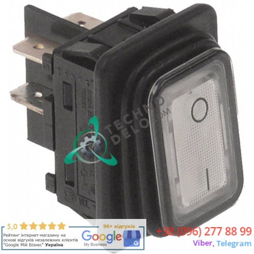 Выключатель балансирный 0-I (30x22мм 2NO 250В) для Winterhalter GS23, GS23H, GS25, GS27, GS4