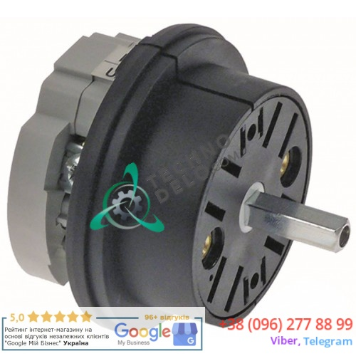 Выключатель Bremas CA0200002V 0-1 400V 16A ось 5x5мм для Expobar DIAMANT, G10 и др.