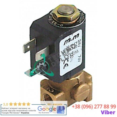 Клапан электромагнитный M&M B-297 1/8 L30мм 2250 24VDC 10446 для кофемашины Brasilia CP2/RB2