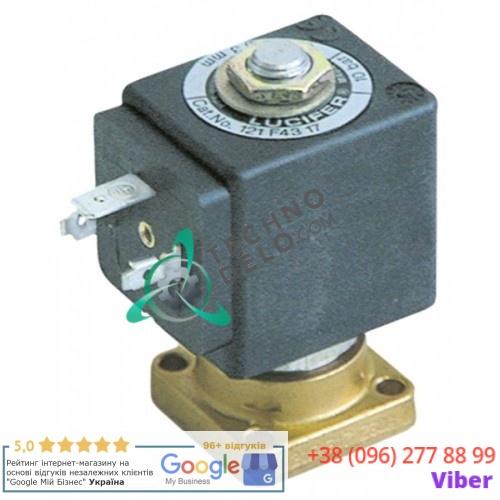 Клапан электромагнитный Parker 121F фланец 32x32мм катушка DZ06S6 230VAC для Faema, Fiorenzato, Rancilio и др.