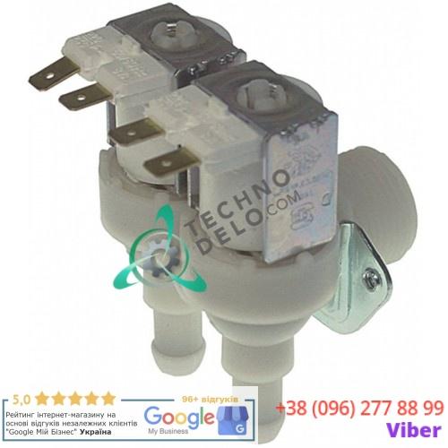 Клапан электромагнитный двойной TP 230VAC 3/4 d11,5мм 2,5л/мин 0,8л/мин для Brema, NTF и др