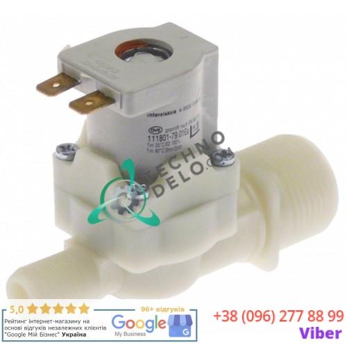 Клапан электромагнитный Interelektrik 230VAC 3/4 d13.5мм 754463 для печи Eloma, Falcon