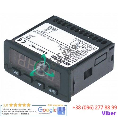 Контроллер EVCO EVK201N7 71x29/33x75мм 230VAC датчик NTC/PTC 3087950 32V6920 32V7490 для Angelo Po, SAGI, Star10 и др.