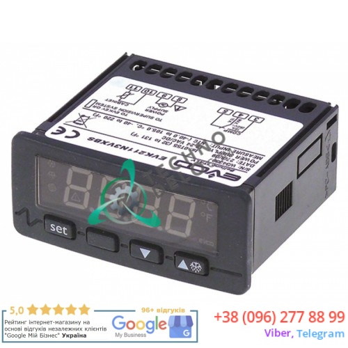 Контроллер EVCO EVK211N3VXBS 71x29мм 12/24 VAC/VDC датчик NTC/PTC 1 реле 1681101 1681140 для Bonnet, Polaris и др.