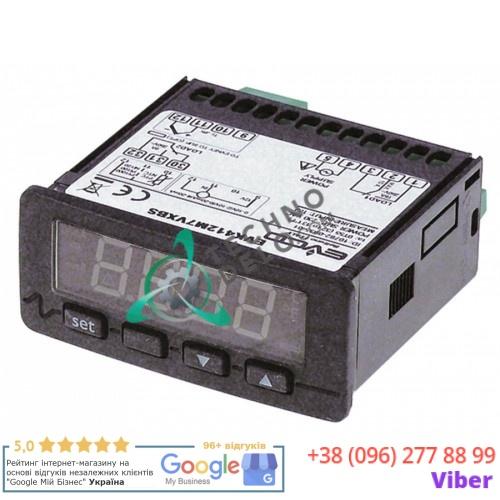Контроллер EVCO EVK412 71x29мм 230VAC датчик NTC/PTC/Pt100/Pt1000/TC(J,K)/mВ/mA 2 реле IP54