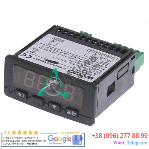 Контроллер EVCO EVK201 71x29мм 230VAC датчик NTC 1 реле 1CO 10A 32V6900 для холодильного стола Angelo Po, SAGI и др.
