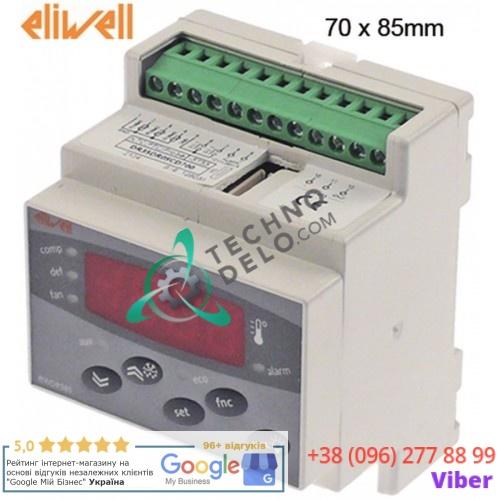 Контроллер Eliwell EWDR985/CSLX DR35DR0SCD700 RS485 70x85мм 230VAC датчик NTC/PTC 4 реле диапазон измерений -55 до +150 °C