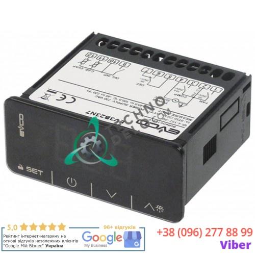 Контроллер EVCO EV3B31N7 Touch 71x29мм 230VAC датчик NTC 1 реле диапазон измерений -40 до +105°C