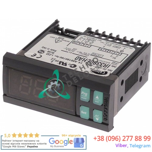 Контроллер CAREL IR33S0EHA0 71x29x69мм 230VAC датчик NTC IP54 -50 до +99°C для холодильного оборудования HoReCa