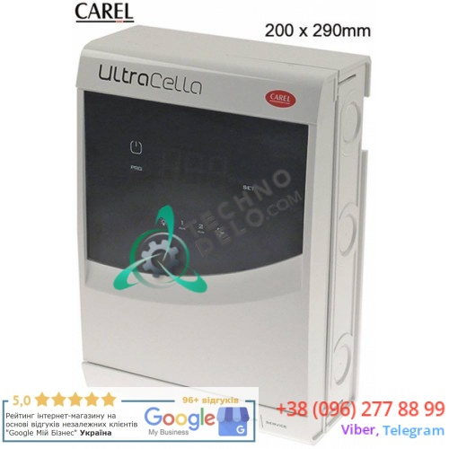 Контроллер CAREL UltraCella 290x200мм 230VAC датчик NTC/PT1000 6 реле -50 до +90 °C для холодильного оборудования