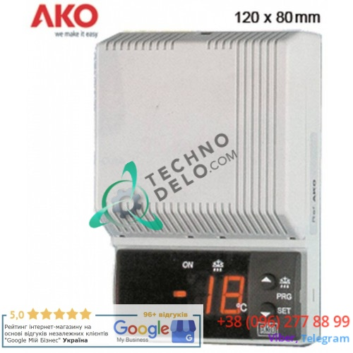 Контроллер AKO 14615 80x120x37мм 230VAC -50 до +99 °C датчик NTC IP40