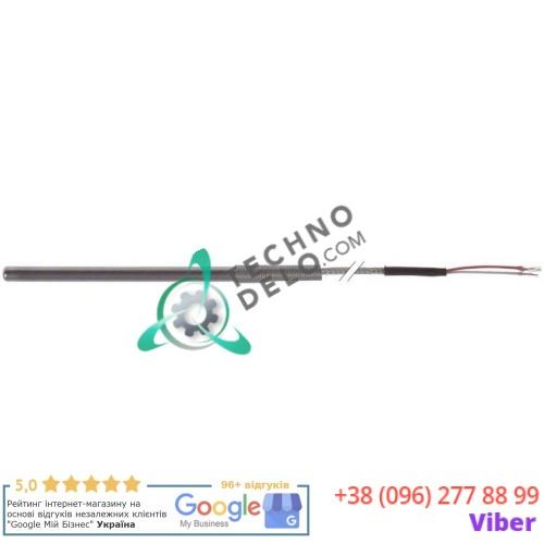 Датчик температурный Pt100 ø6x100мм 100 ом -200 до +600 кабель Vetrotex -50 до +350 длина 3000мм