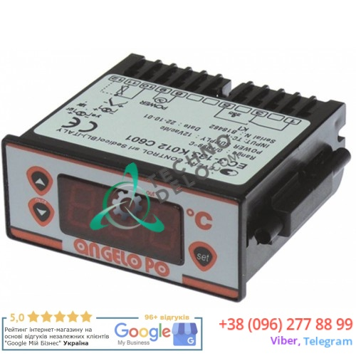 Контроллер EVCO FK400A 71x29мм 12VAC 0-999°C IP65 датчик TC-K 32V5020 печи для пиццы Angelo Po FPZ4G, FPZ6G