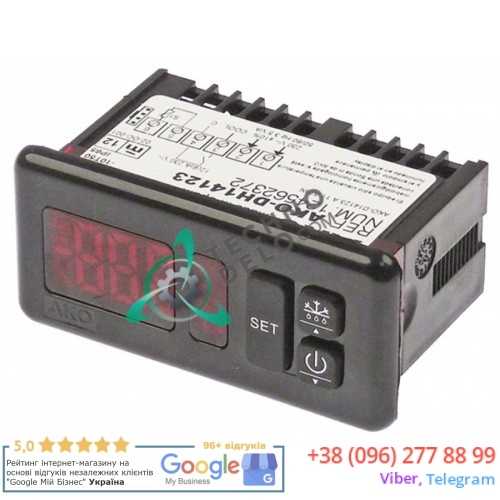 Контроллер AKO AKO-DH14123 -50 до +99/+150 °C 71x29мм 230В датчик NTC/PTC