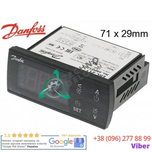 Контроллер Danfoss ERC211 71x29мм 230VAC датчик NTC/PTC/Pt1000 для холодильного оборудования Fri-Jado и др.