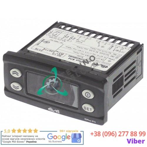 Контроллер Eliwell IDPlus 974 IDP2EDB300000 71x29/74x32мм 12VAC/VDC датчик NTC/PTC/Pt1000 088395 для Zanussi AZP1103 и др.