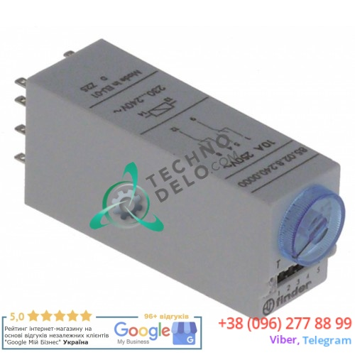 Реле времени Fiber 85.02.8.240 2CO 230-240VAC 10508 для Bertos, Foinox, Lainox, Mareno, Repagas и др.