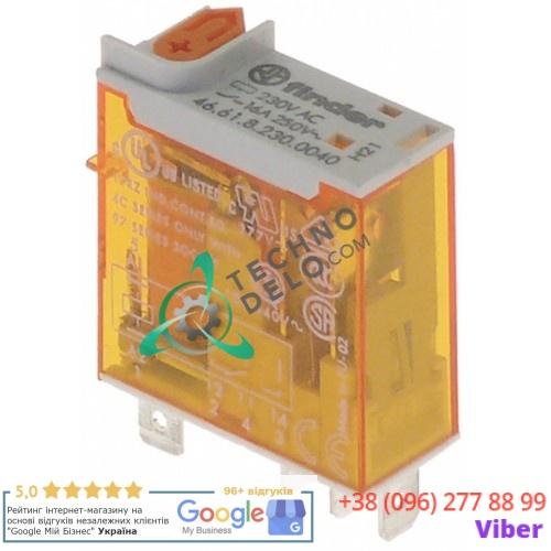 Реле Finder 46.61.8.230.0040 (230VAC 16A 1CO) подключение штекер 4,8мм
