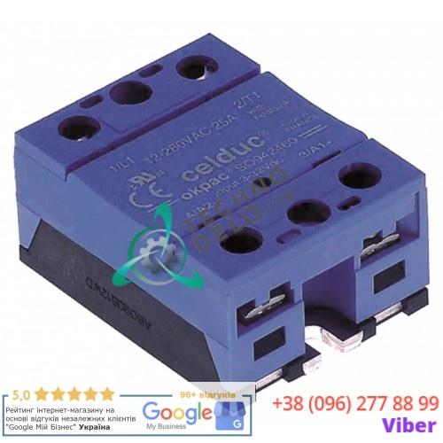 Реле силовое Celduc SO942460 1 фаза 25A 12-280В 59x46мм для Conti, Essika