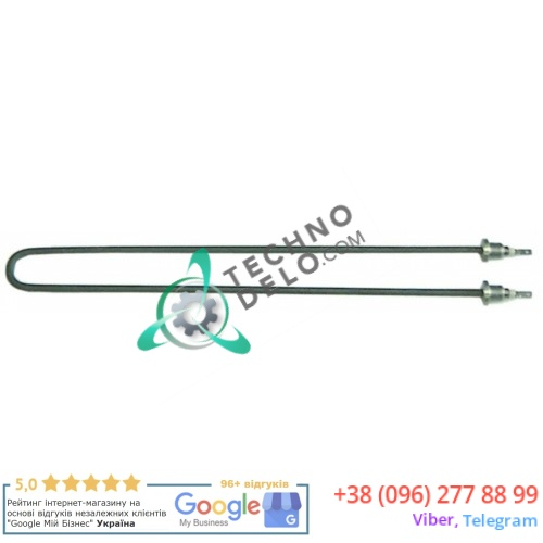 Тэн (1500Вт 230В) 379x35мм трубка d-6,5мм резьба M14x1,5 погружной нагреватель для мармита