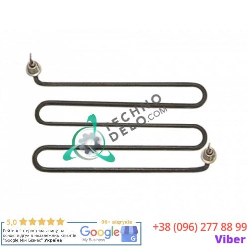 Тэн (1100Вт 230В) 205x110мм M4 трубка d-6,3мм резьба 1/4 004932 RC00528000 для сковороды Electrolux, Tecnoinox и др.