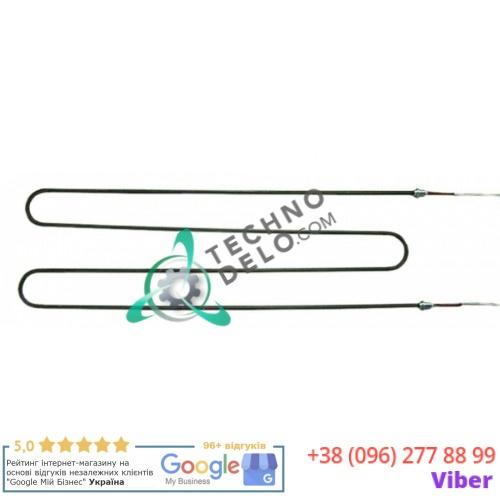 Тэн (1100Вт 380В) 716x205мм резьба M15x1 трубка d-8мм провод L-980мм RESI0065 318053 E318053 для пицца-печи Eloma, Zanolli и др.