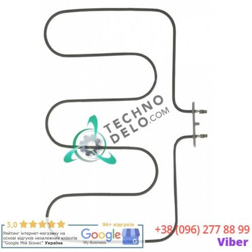 Тэн (1500Вт 230В) 365x500мм фланец 100x22мм трубка d-6,3мм X68203 для плиты Bertos, Giga, Star-10 и др.