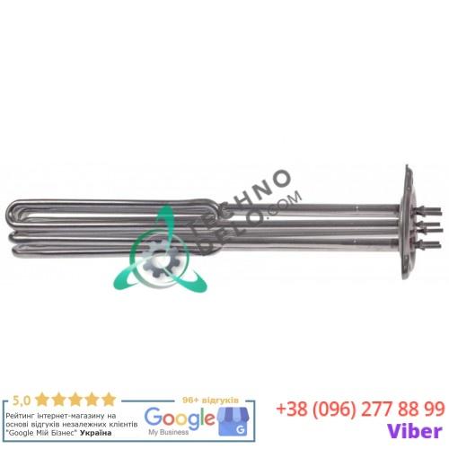 Тэн (10500Вт 230В) ø60мм 340x50x50мм трубка d-8,3мм M4 0L1035 0L2242 0L2243 нержавеющая сталь для Electrolux WTC140ELA и др.