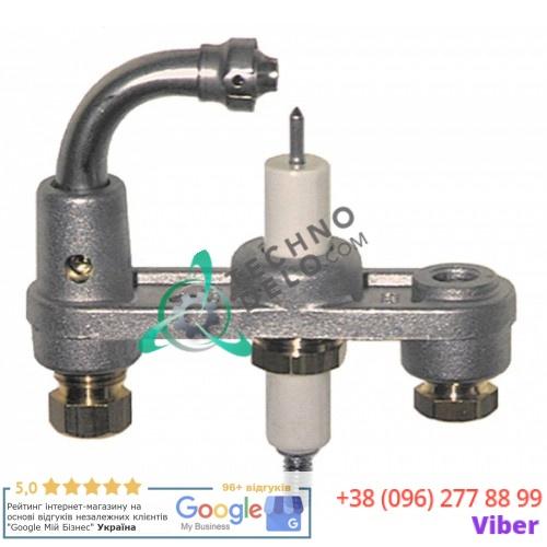 Горелка Junkers CB505018 3-х пламенная природный газ дюза 9 6мм 33A0480 для сковороды Baron, Mareno, Olis и др.
