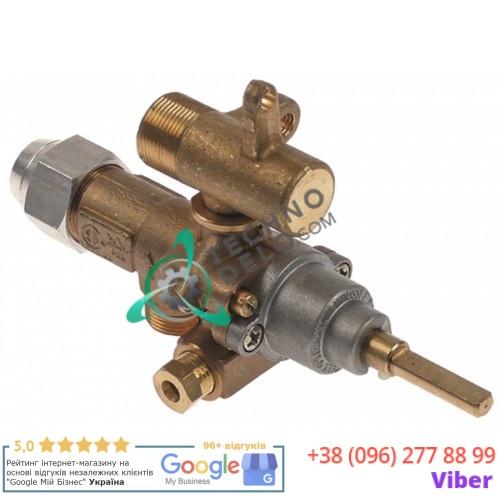 Кран газовый (аналог) EGA GPEL21R M15x1 трубка ø10мм дюза ø0,35мм ось 6x4,6мм  201737 для Küppersbusch, MKN и др.