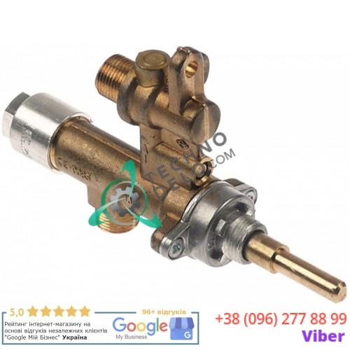 Кран газовый MADEC M12x1 трубка ø8мм дюза ø1мм M12x1 M8x1 M12x1 ось 6x4,6мм гриля Potis, Suprema и др.