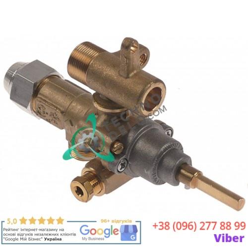 Кран газовый (аналог EGA) GPEL21D M15x1 трубка ø10мм ø0,35мм M17x1 M8x1 M10x1 ось 6x4,6мм для кухонной плиты