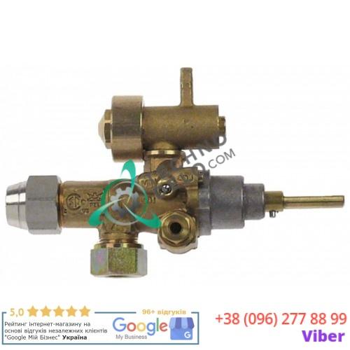 Кран газовый (аналог EGA) GPEL21D M15x1 дюза ø2,05/ø1,85/ø0,5мм M8x1 M10x1 ось 6x4,6мм 201148 201742 для MKN