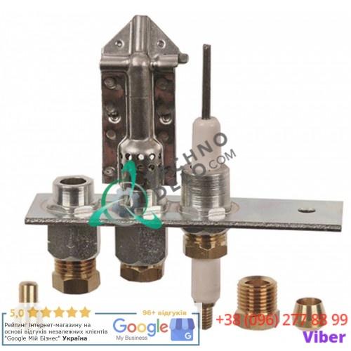 Горелка Polidoro 20/40 3-х пламенная природный/сжиженный газ подключение 4/6мм для кухонного теплового оборудования