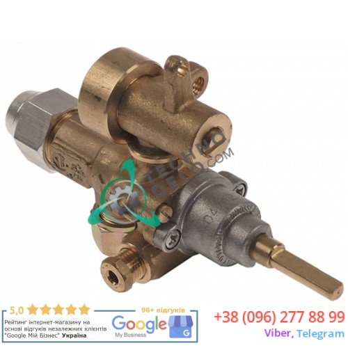 Кран газовый (аналог EGA) GPEL21D M15x1 трубка ø10мм ø1,55/1,35/0,4мм M8x1 M10x1 ось 6x4,6мм 201137 для MKN