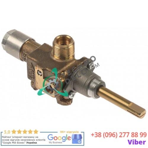 Кран газовый Copreci CPMM18700 ø21мм 3/8 M8x1 M10x1 ось 8x6,5мм 12003727 для теплового оборудования Fagor, Roller Grill